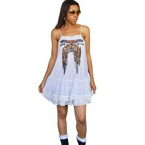WILDFOX Light Feather Canyon sequined eagle dress